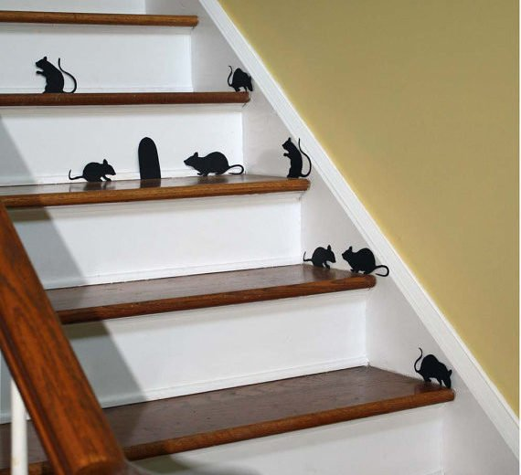 Mice in wall stickers