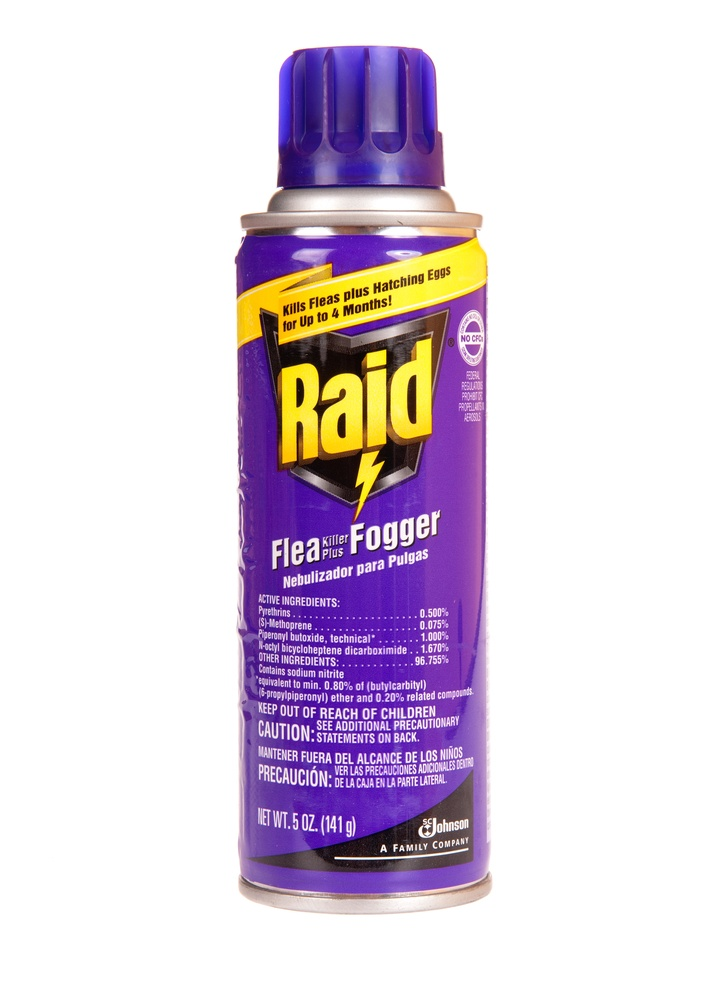 A can of Raid brand flea killer plus fogger.