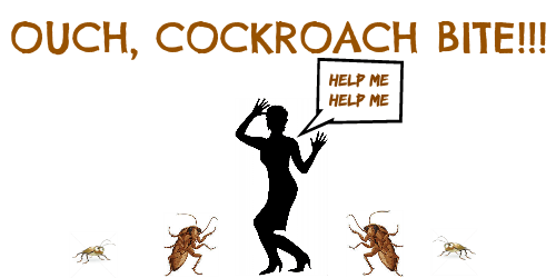 Woman screaming cockroach bites