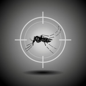 Flat icon design of killing mosquito.