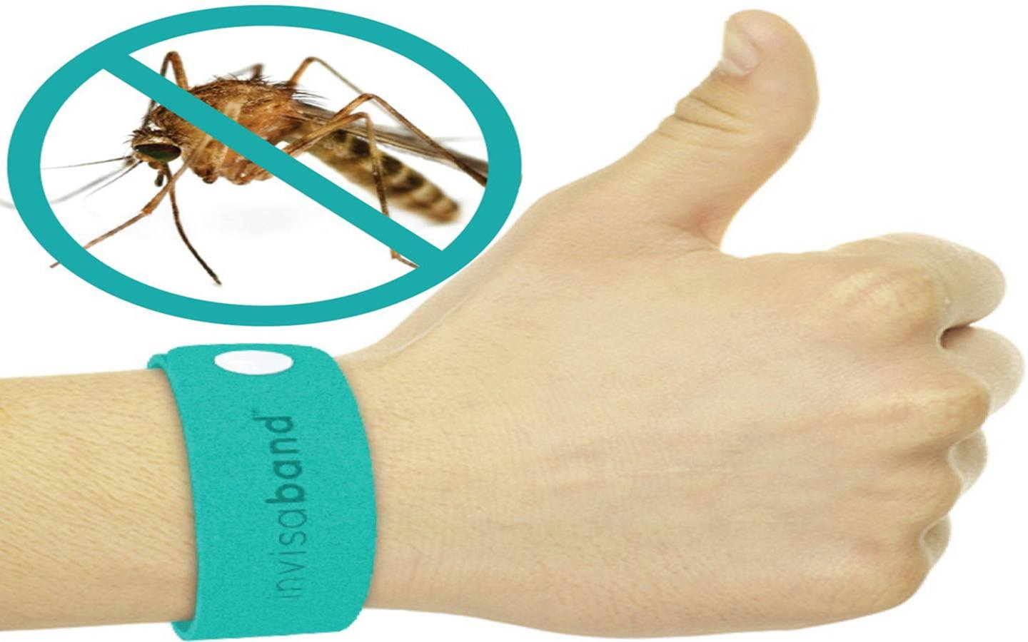 Mosquito Repellent Bracelets with mosquito banned mark on white background.