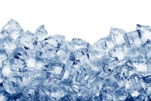 Ice cubes isolated on white background.