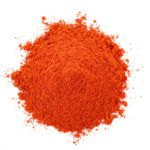 Pile of red paprika powder.