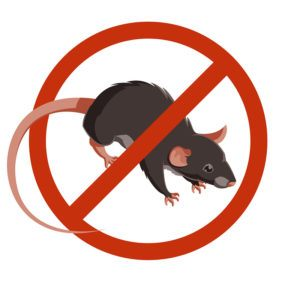 Rat or Mouse Warning Vector Signs