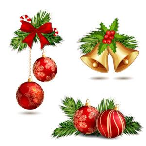 Christmas decoration isolated on white.