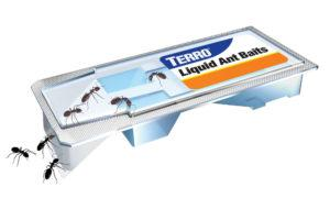 TERRO T300 Liquid Ant Baits isolated on the white.