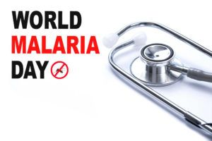 MALARIA mosquito sucking blood World Malaria Day Zika virus alert, medical concept.