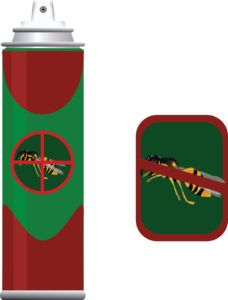 Insecticide spray for insects.