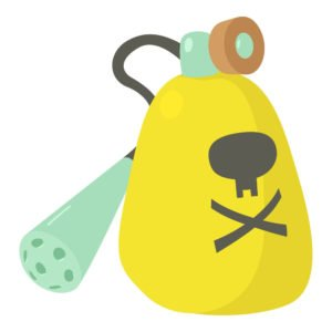 Cartoon illustration of insecticide device icon.