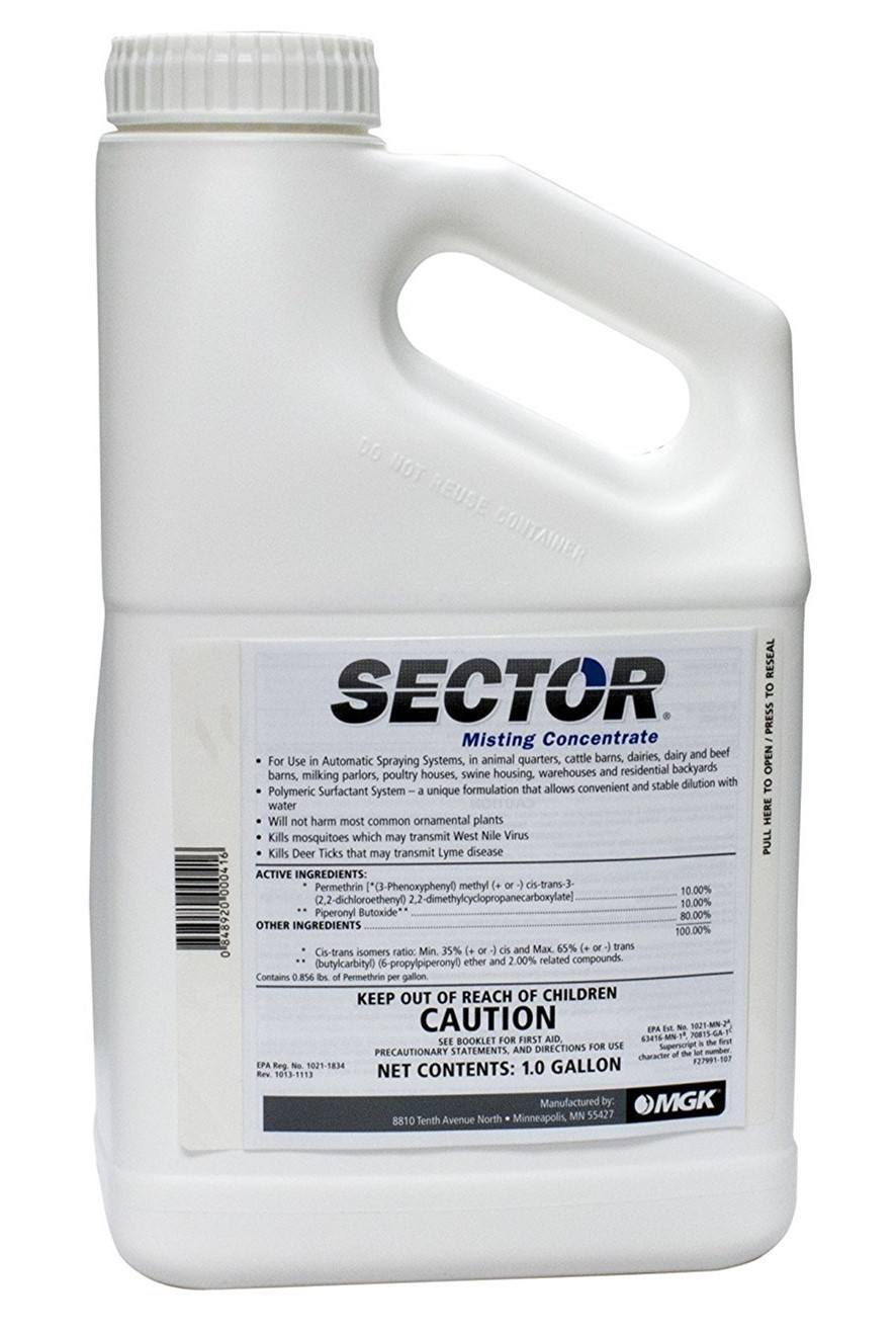Sector 1 Gal Permethrin Mosquito & Flying Pest & Insect Control Misting Insecticide
