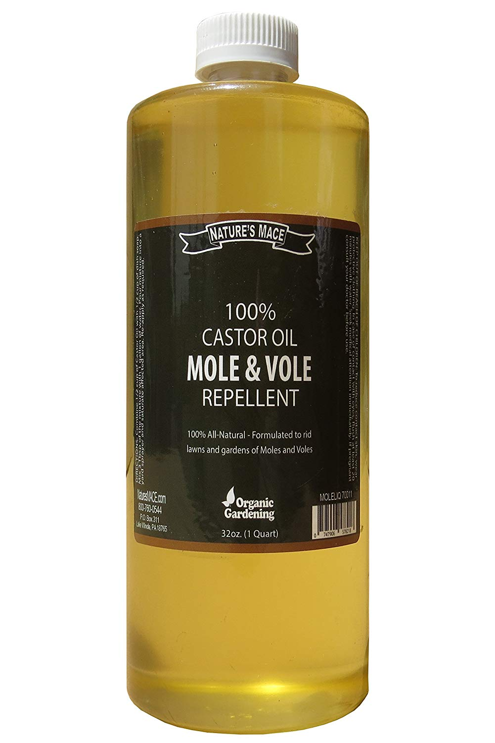 Nature Mace's Mole Repellent 100% Castor Oil