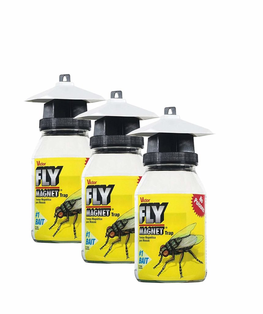 Victor M380 Fly Magnet 1-Quart Reusable Trap With Bait (3 Pack)