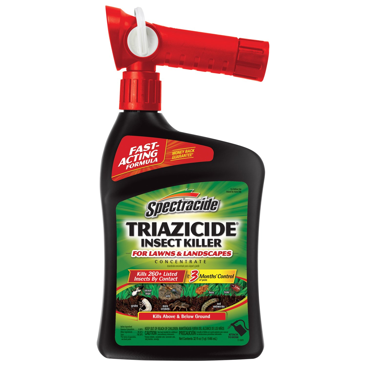Spectracide Triazicide Insect Killer For Lawns and Landscapes (Top Choice)